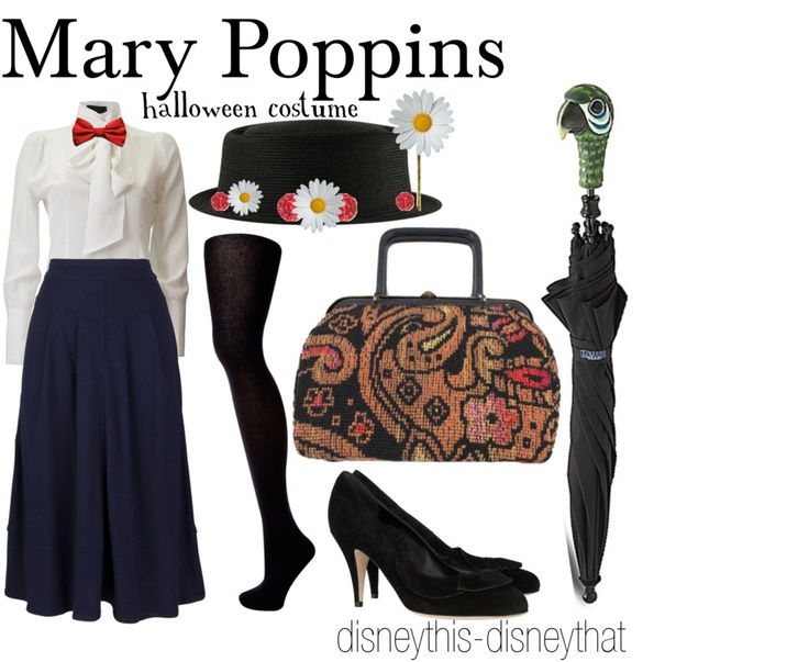 Mary Poppins Halloween Costume by disneythis-disneythat, via Polyvore
