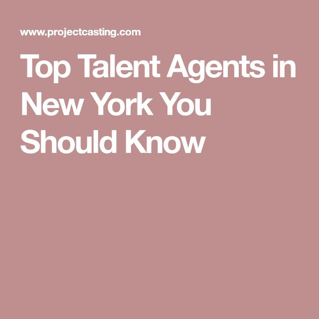 Top Talent Agents in New York You Should Know