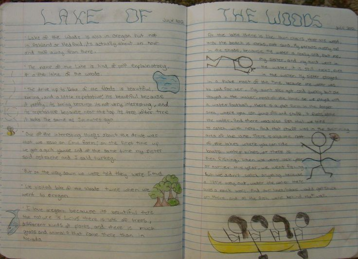 A great, two-page entry from 7th grader Ryan about one of his excursions over the summer. Learn about my writer's notebook expectations for my students here: http://corbettharrison.com/writers_notebooks.html#communication
