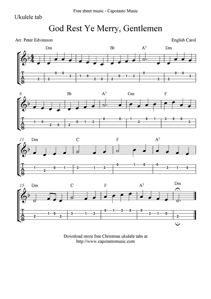 god_rest_ye_merry_gentlemen_ukulele.png 1,131×1,600 pixels | Good Uke Tuts | Pinterest ...