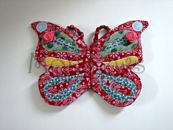 Appliqué embroidered Butterfly wings