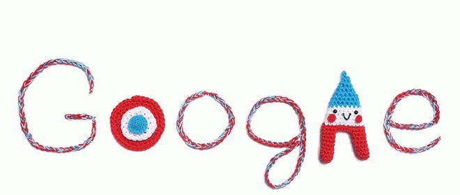 bastille day google doodle crochet