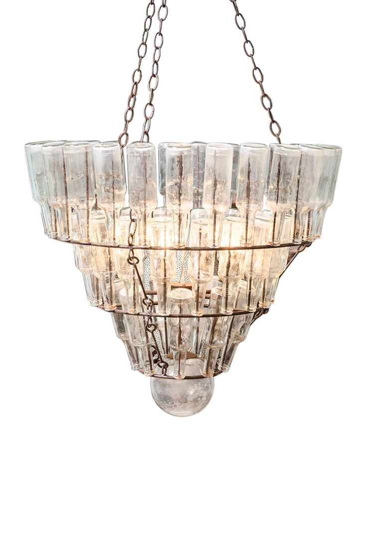 17 best images about bottle on pinterest glass bottles decorative bottles and recycled wine - Glass bottle chandelier ...