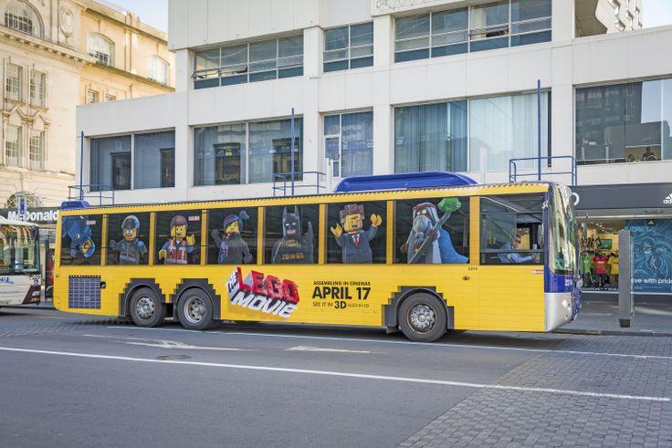The Lego Movie full wrap bus.
