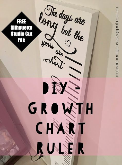 Free Growth Chart Ruler Cut File For Silhouette Cameo