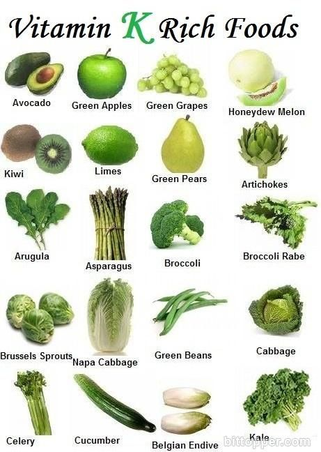 Vitamin K Rich Foods: Vitamin K can be found in many different natural ingredients including vegetables, fruits, herbs