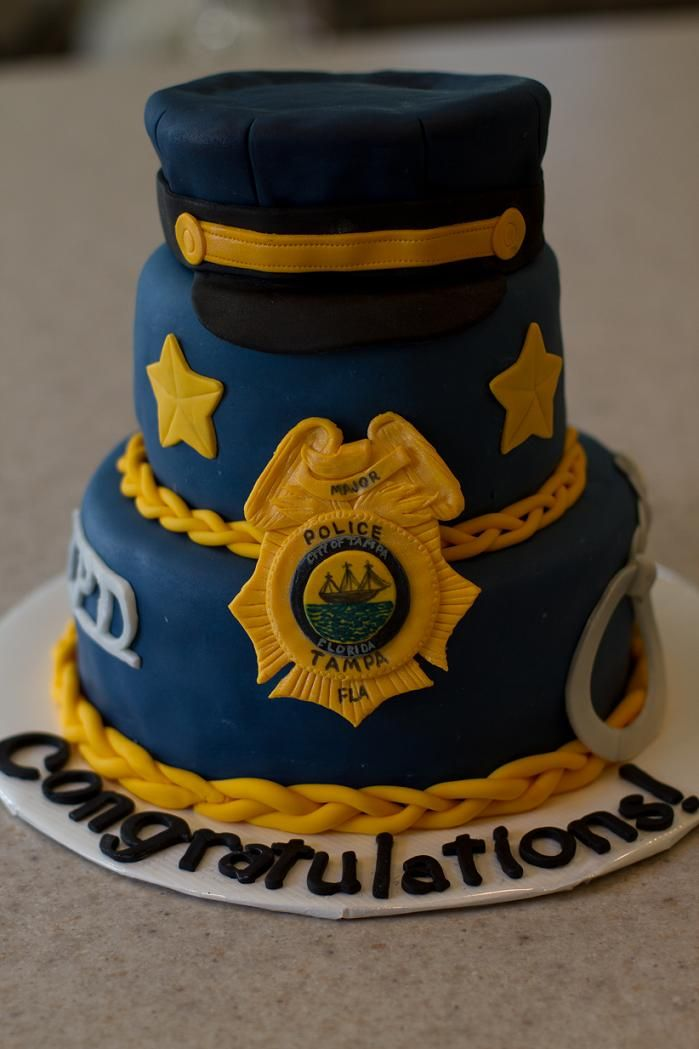 Police Birthday Cake For Colin
