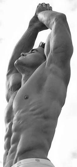 "Lean and muscular, marvelous and amazing. Trying to focus on the wonder of the ""form"", less upon the ""hot guy!""-perspective."