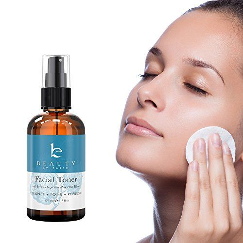Facial Toner - Hydrating Face Toner - With Organic and Natural Ingredients with Witch Hazel & Rose Water - Reduce Puffiness & Redness, Use As Makeup Remover and Astringent - 4.7oz
