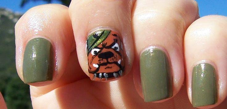 Motivated? Marine nail art