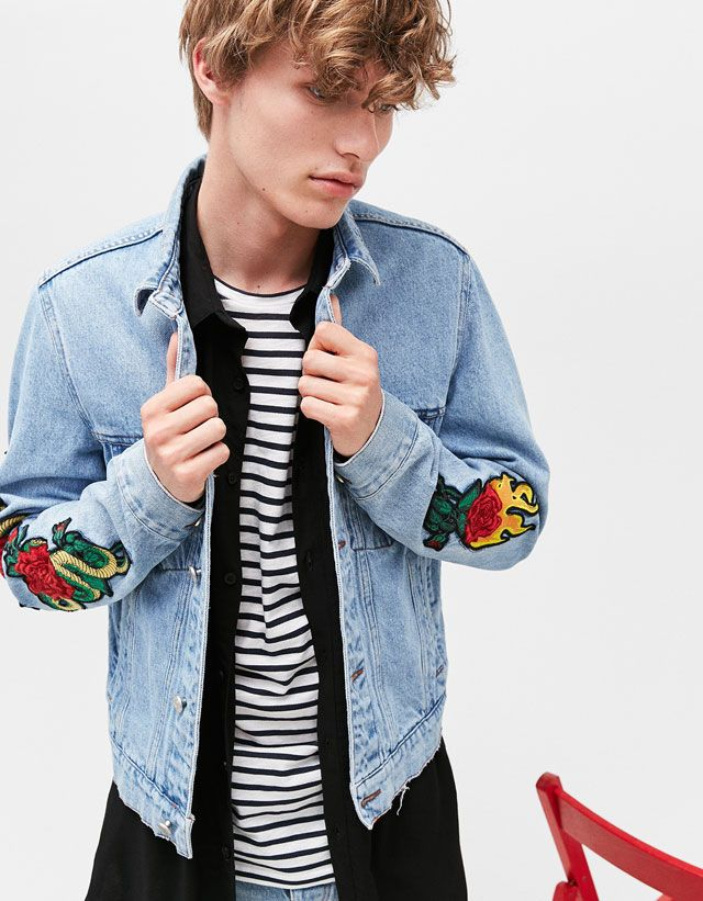 Bershka Philippines online fashion for women and men - Buy the lastest trends Casual Trends, Sweater Jacket, Cool Outfits, Mens Fashion, Denim, Sweatshirts, Sweaters, How To Wear, T Shirt