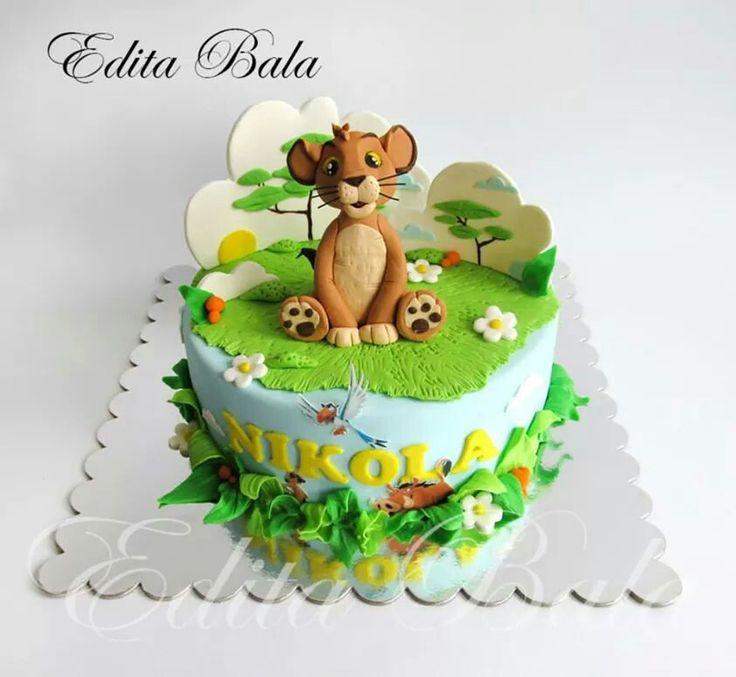 Simba Fondant Cake Pinterest
