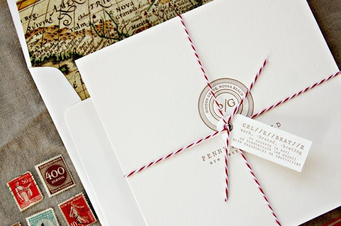 Bespoke Press: Penny U0026 Gerald :: Wedding Stationery Simple And High End.  Find This Pin And More On Travel Theme Wedding Invites ...
