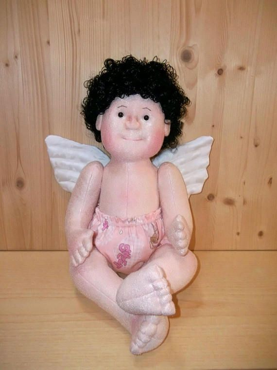 OOAK Doll , Soft Sculpture Doll , Cloth Baby Doll , Pattern Angel Baby in my Garden. PDF & Tutorial,  71 pages, with 75 photos.