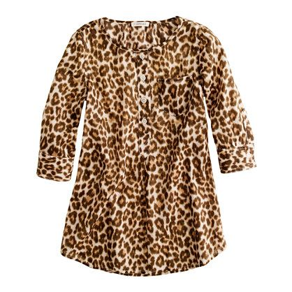 GIRLS' POCKET TUNIC IN LEOPARD PRINT a #mommy #steal at $59.50    $59.50