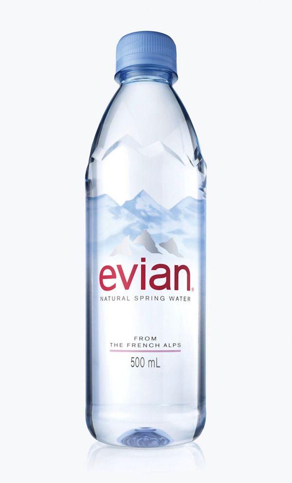 Le nouveau design des bouteilles Evian  Il Était Une Pub  