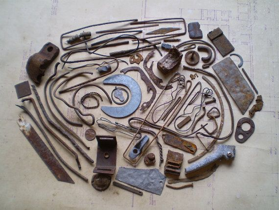 62 Rusty Metal Pieces - Found Objects for Assemblage ...