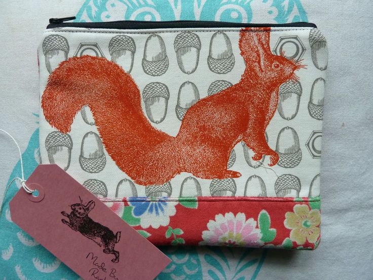 Handmade Makeup Bag Designer Squirrel Nuts Cath Kidston Velvet Roses Cosmetic in Clothes, Shoes & Accessories, Women's Accessories, Purses & Wallets | eBay