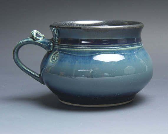 Sale  Handmade pottery soup mug ceramic chili mug ice cream