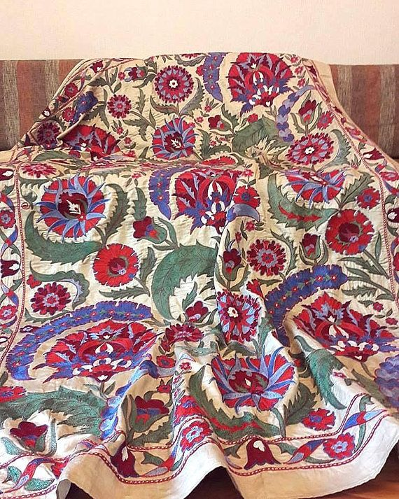 Suzani Silk on Silk handmade from