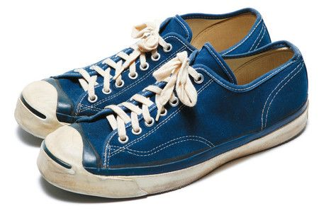 CONVERSE JACK PURCELL (Vintage) We used to wear these with no socks, a mini skirt, and an oxford shirt with the tails hanging out, cuffs unbuttoned. Junior high cool in the 60s/70s