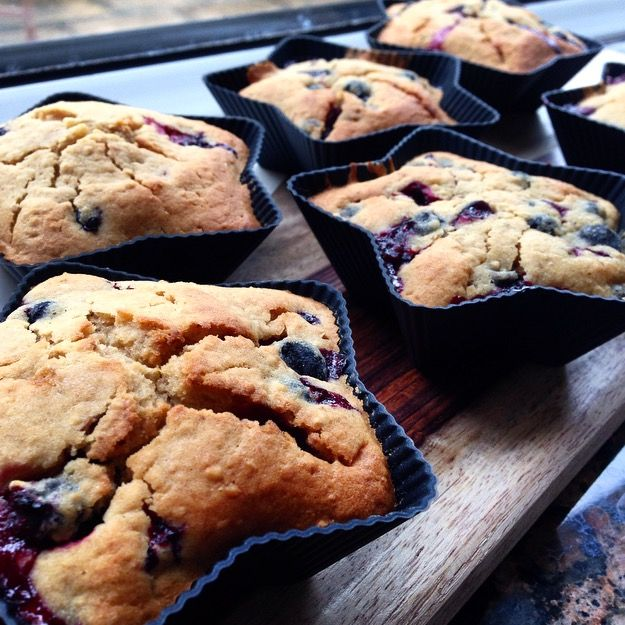 Oatmeal and blackcurrant muffins; sharp and sweet, a combination that works perfectly here. Dairy-free, gluten-free, nut-free, soy-free.