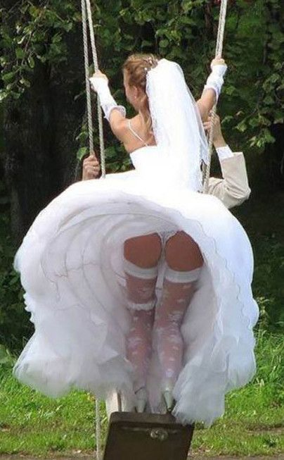 wedding dress upskirts
