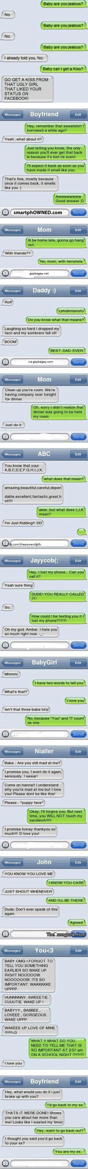 Funny Texts From Jealous Ex Boyfriend