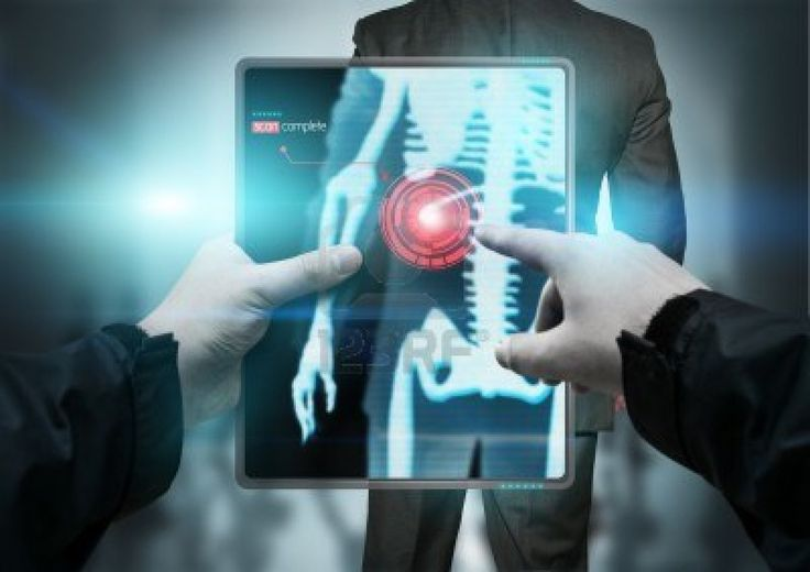Future Technology - A portable  body scanner scanning in X-rays. Stock Photo - 9373900