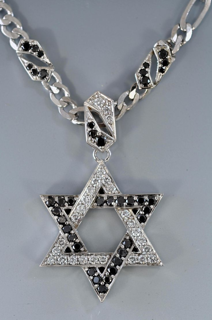 Black and white diamond Star of David by Alex Gulko