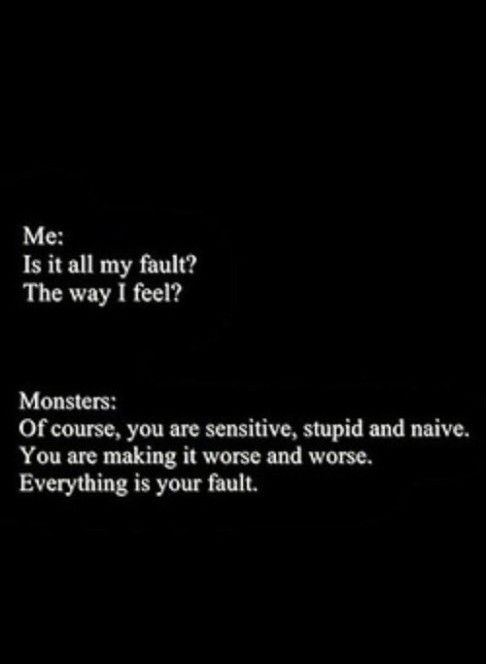 i'm a mess and the monster's in my head agree with me !                                                                                                                                                                                 More