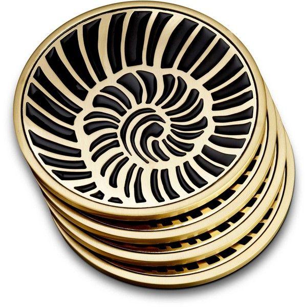 Lobjet seashell coasters set of 4 150 ❤ liked on