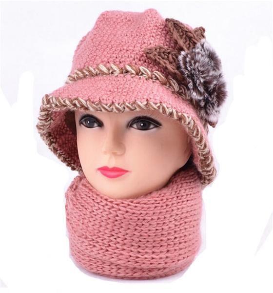 Vintage Rabbit Fur Crochet Bucket Hat