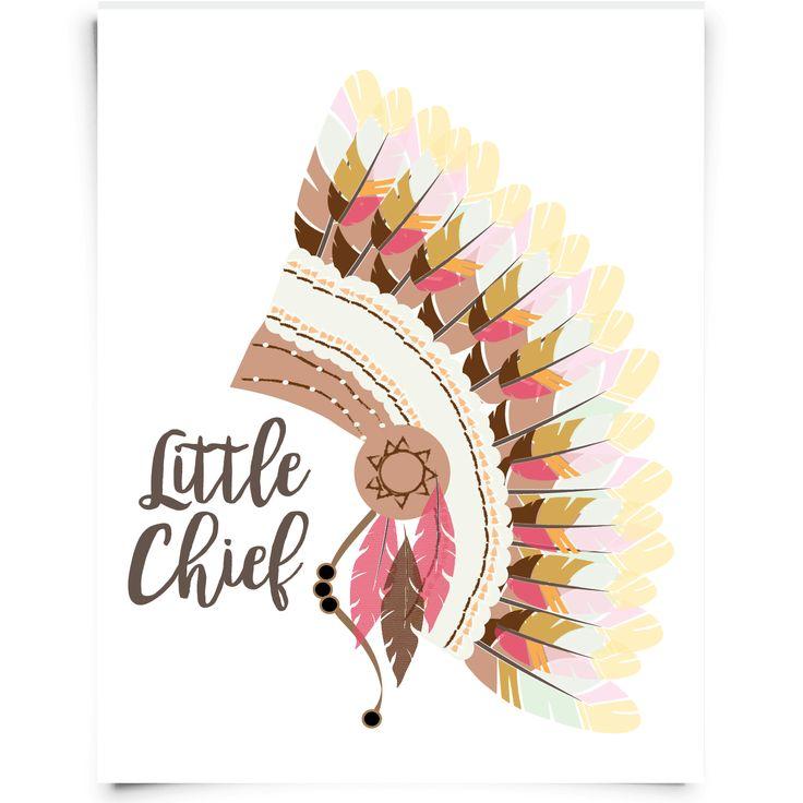 """Little Chief""Free Printable Nursery Art for your tribal nursery | Chickadee Art and Company"