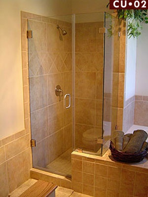 idea for shower and then we would have room to build in linen storage