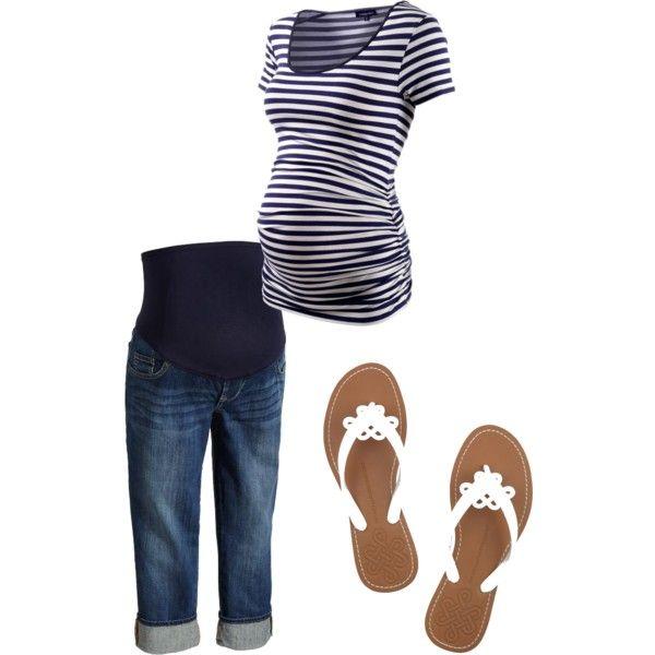 Summer Maternity Stripes, created by ashley-felts.