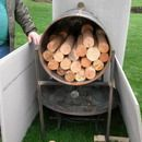 Load the drum with wood