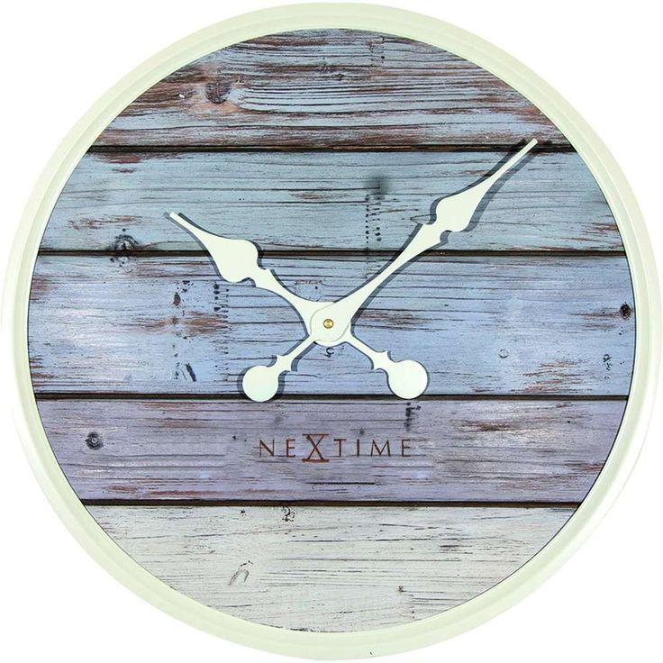 Plank Grey Wall Clock 50cm