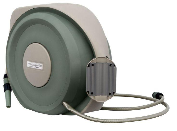Gartenschlauch Schlauchaufroller:  Automatik-Schlauchtrommel inkl. 20 m 1/2