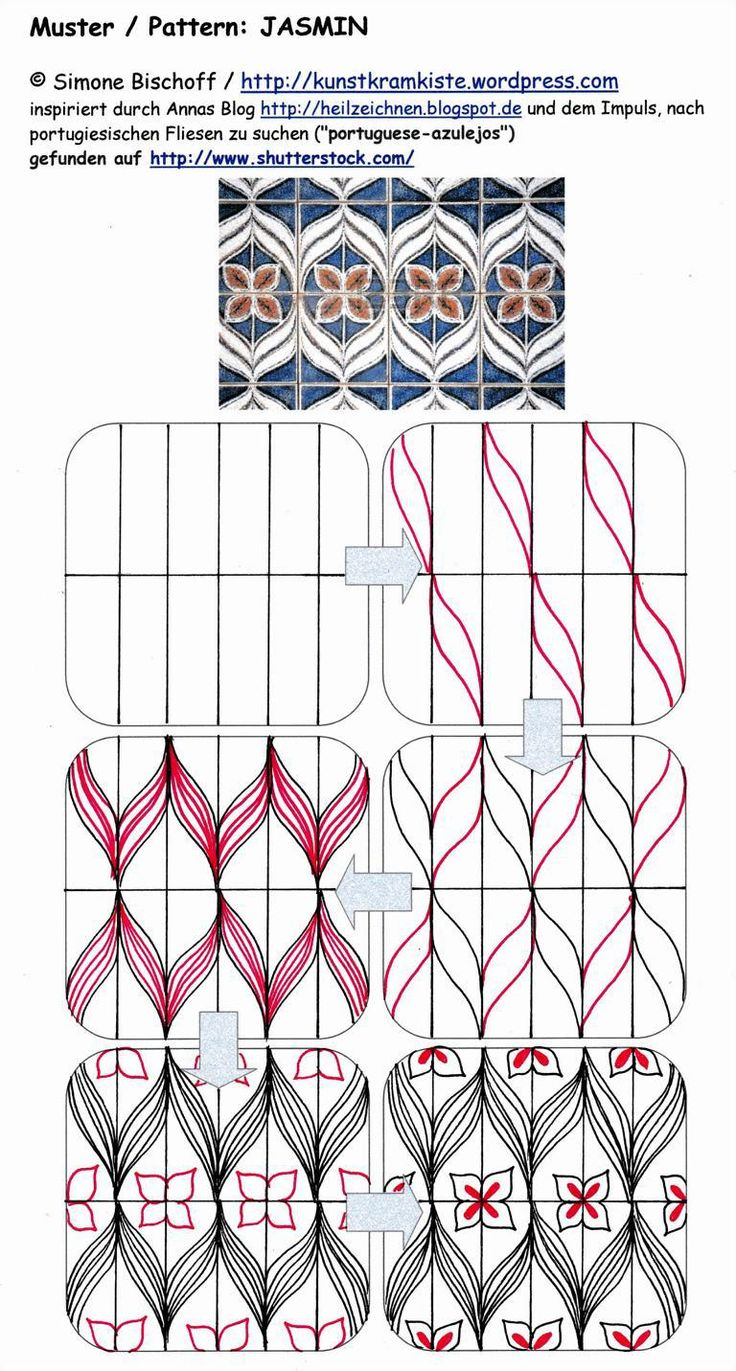 Jasmin tangle zen tangle pattern ©SimoneBischoff_MusterJASMIN_13072014