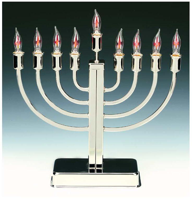 Electric Menorah For Hanukkah-Flickering Bulbs
