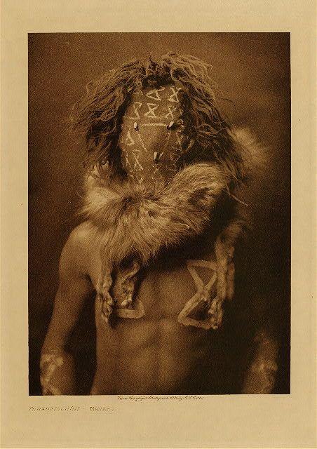 Tobadzistsini - Navajo war god from Edward S. Curtis's The North American Indian