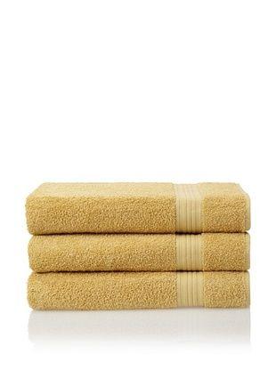 55% OFF Savannah by Chortex 3 Piece Bath Sheet Set, Mustard