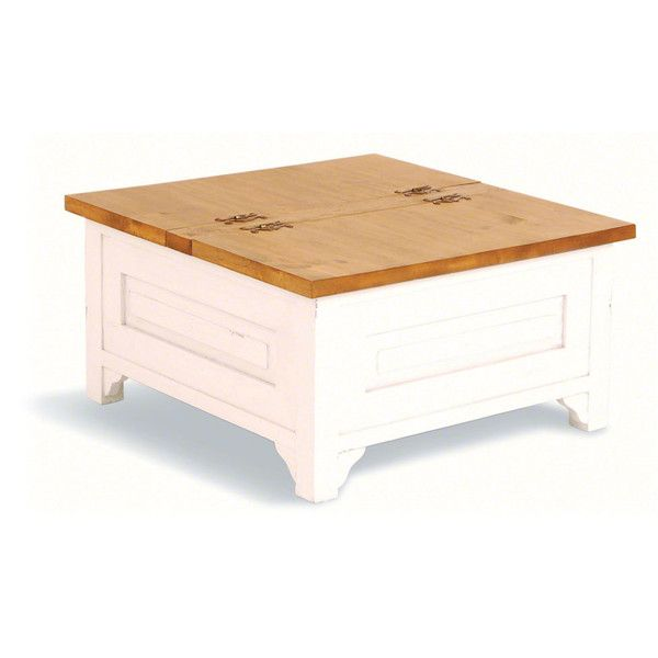 Oh Maison Square Trunk Coffee Table Antique White 410 Liked On Polyvore Featuring Home