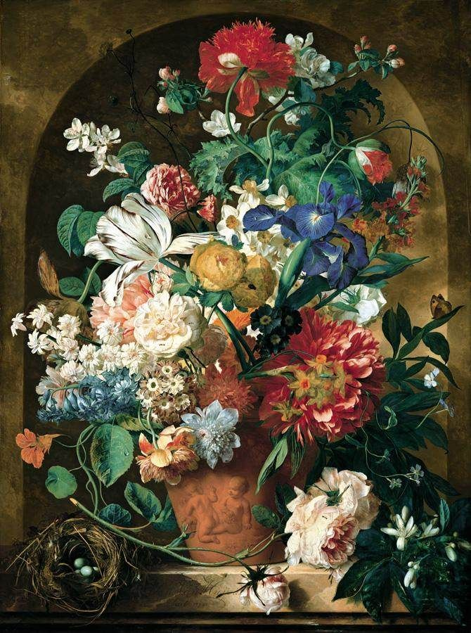 androphilia: Still-Life of Flowers by Jan van Huysum, 1734: