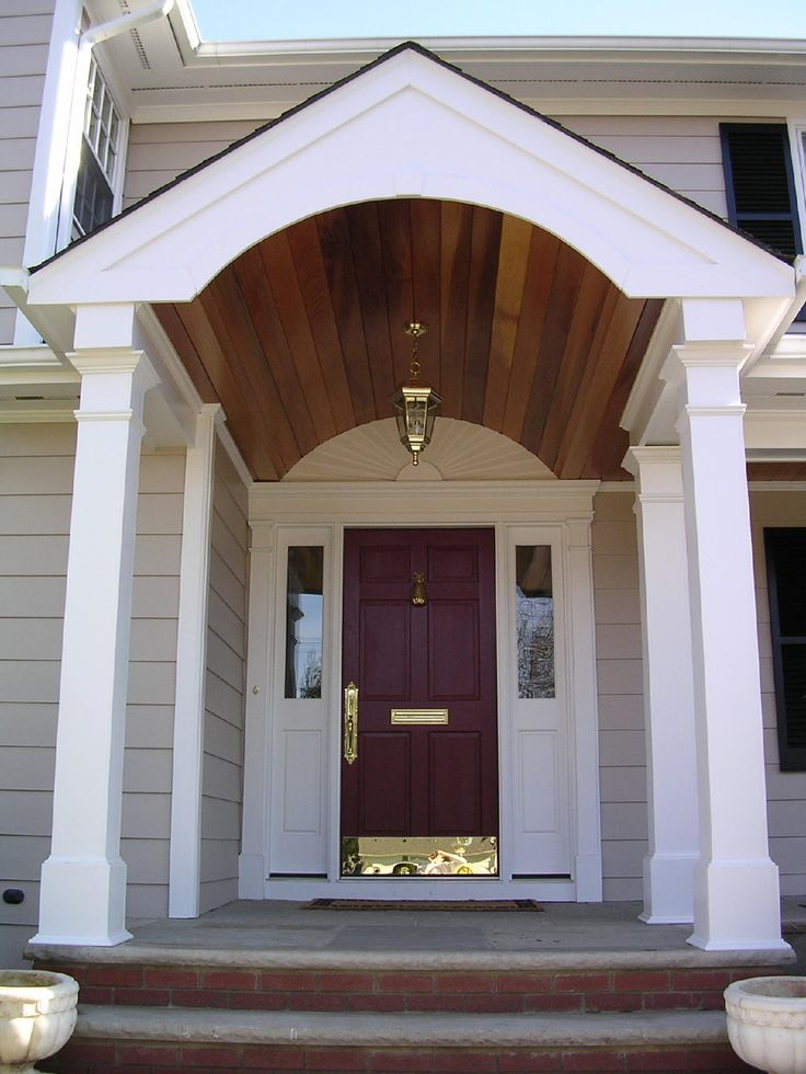 Best 25 porticos ideas on pinterest portico entry roof for Front door roof designs