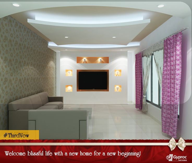 Gyproc #falseceilings are the perfect way to give your home a fresh new look. Install this #falseceiling & begin your blissful journey with your partner. Visit www.gyproc.in