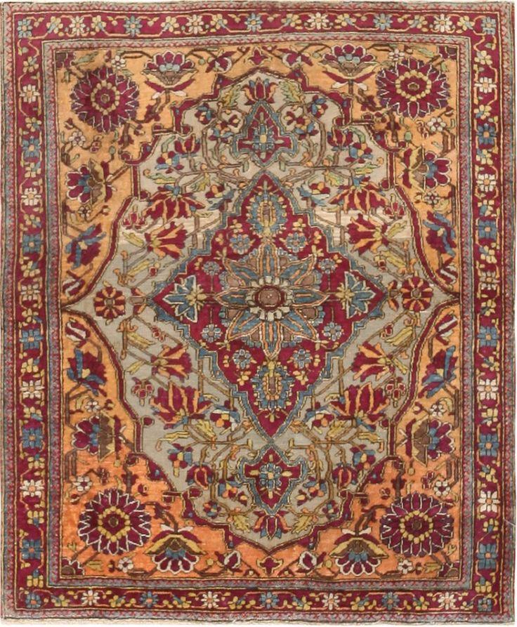 Antique Mohtashem Kashan Persian Rug 47047 Nazmiyal By Antiquerugs Rugs Vintagerugs