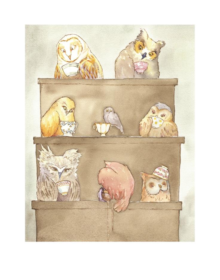 Owls of Dumbree print by Greta Schimmel from gretaschimmel.daportfolio.com