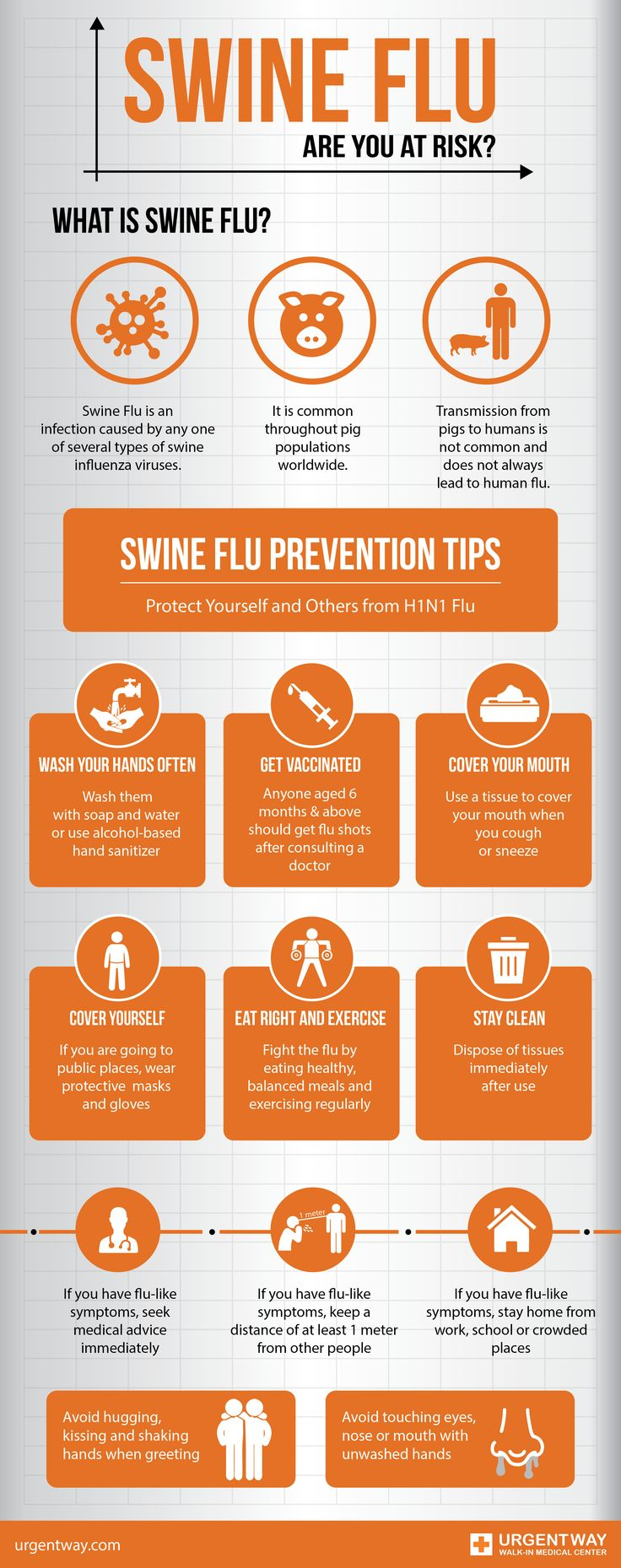 The Health Ministry of Mexico shared that the country had seen a recent spike in the H1N1 virus, commonly known as Swine flu, during the recent flu season.  Our team developed the below infographic to help you prevent the disease and keep your self and your loved ones safe.